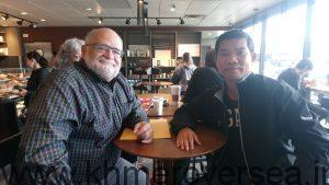 MP Ron McKinnon and Sophan Seng