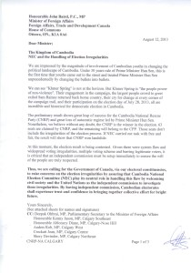 Letter of Appealing to the Government of Canada 1