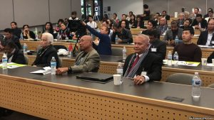 Cambodian-Americans and Cambodian-Canadians gathered to talk about Cambodia's politics at the 26th Paris Peace Accord conference in Seattle, Washington, Saturday, October 14, 2017. (Sok Khemara/VOA Khmer)